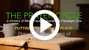 prayer, praying, God's character